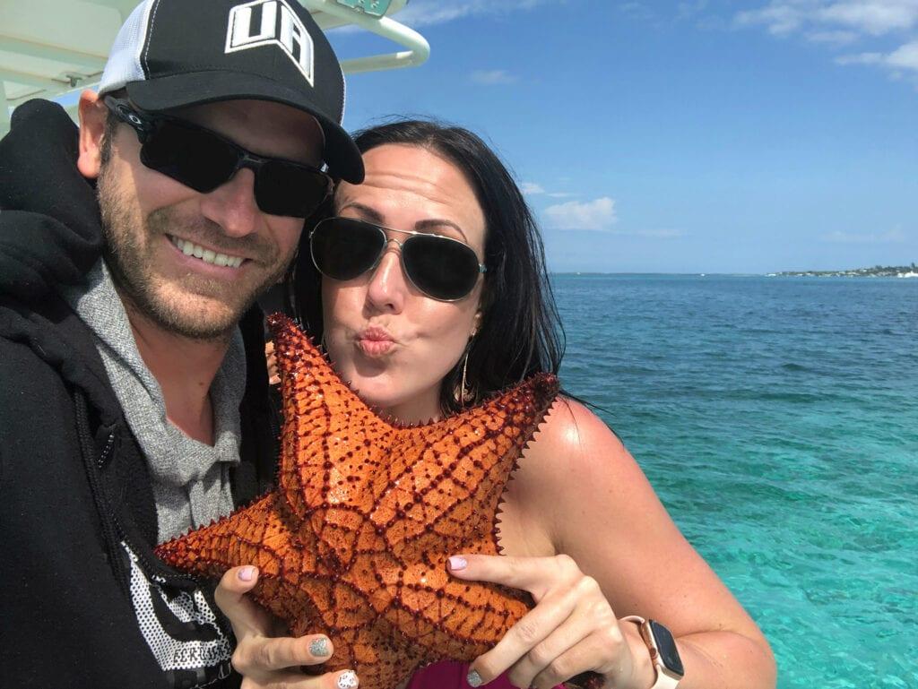 starfish in the bahamas