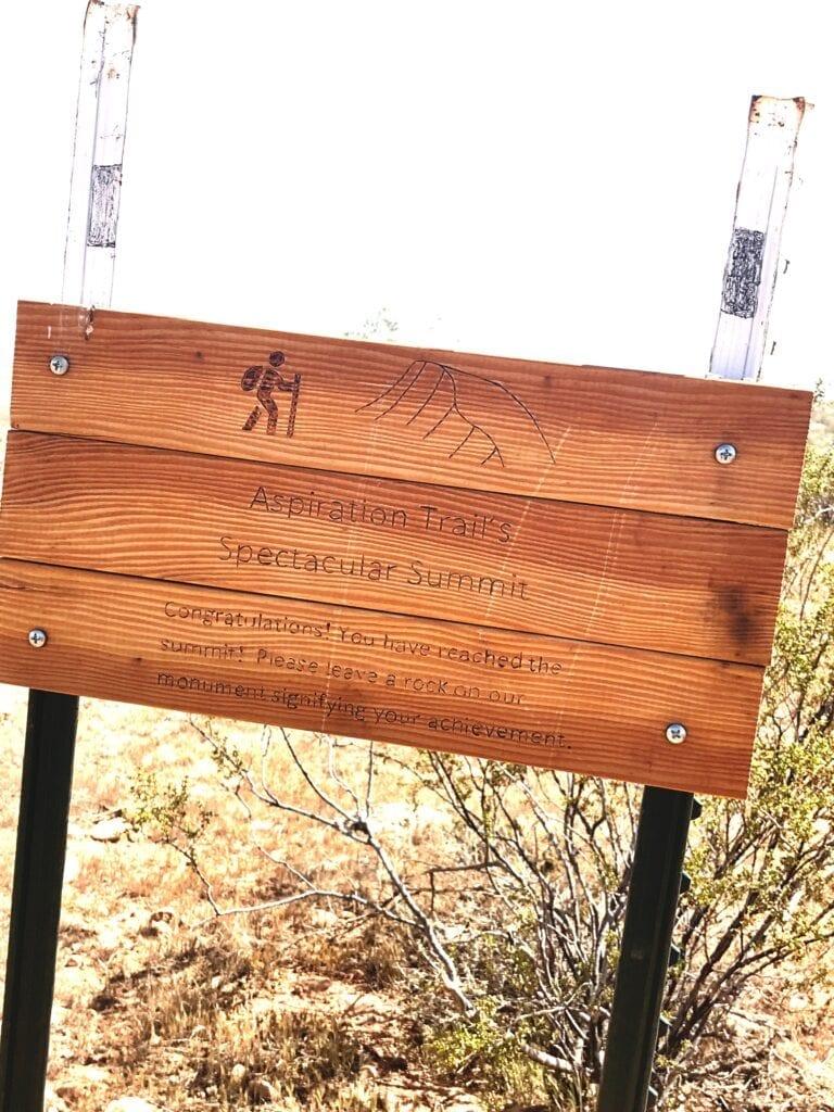 Aspiration Trail, Utah sign