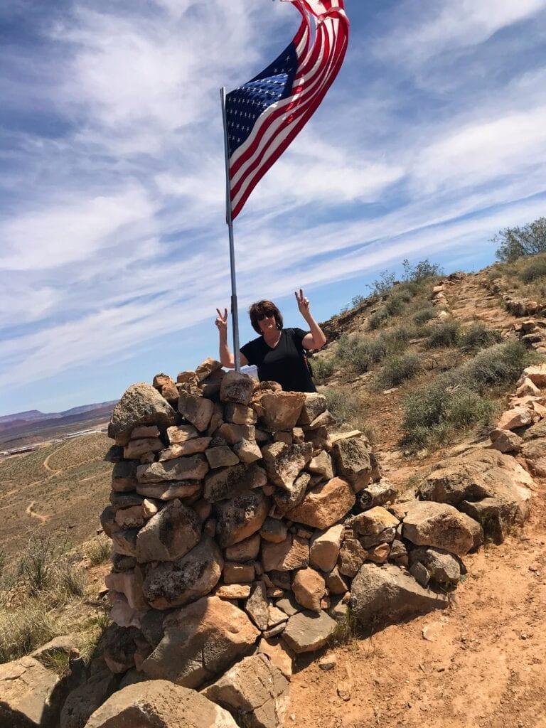 woman on top of Aspiration Trail, Utah