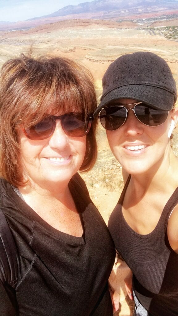 2 women on top of aspiration trail