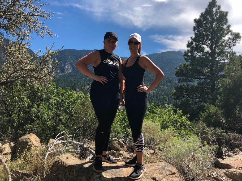 2 girls hiking in Pine Valley, UT