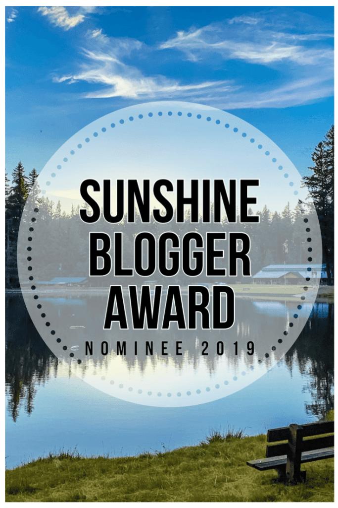 Sunshine Blogger Award Nominee 2019