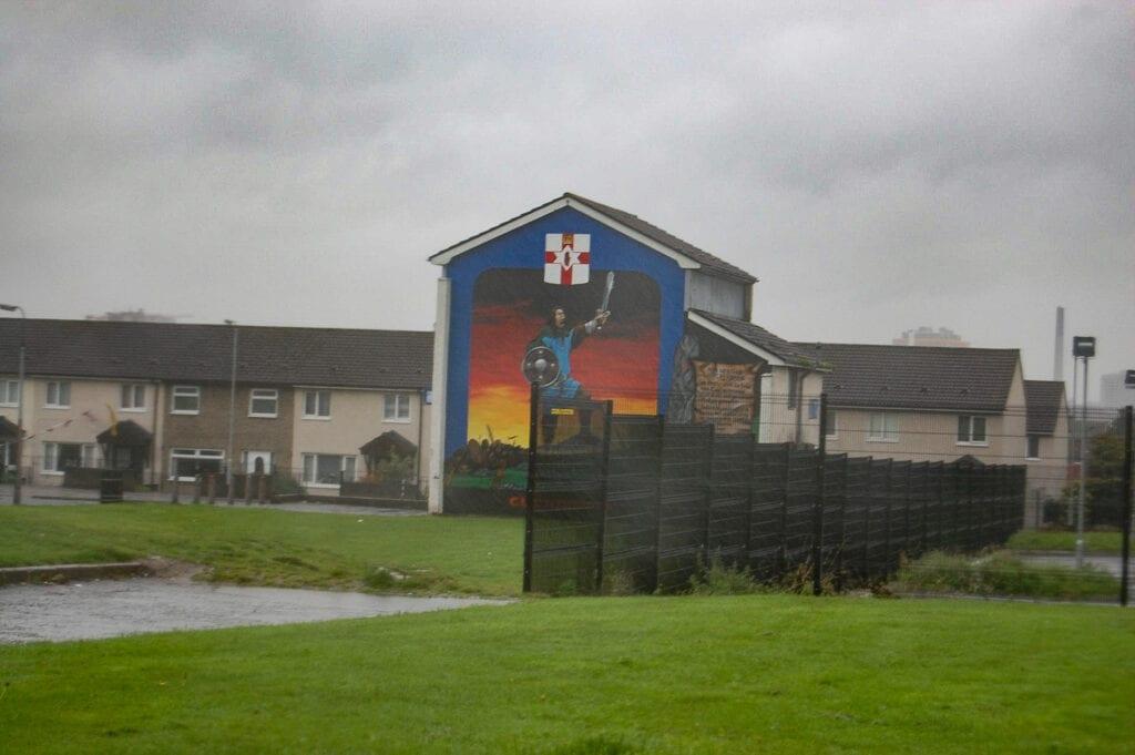 street art on buildings in Belfast, Ireland