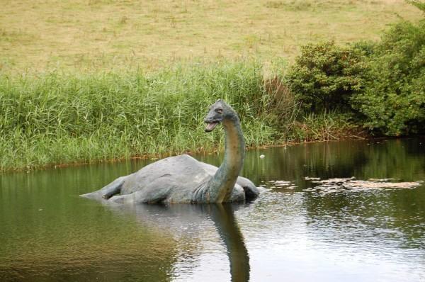 The Loch Ness exhibit, Loch Ness statue in water
