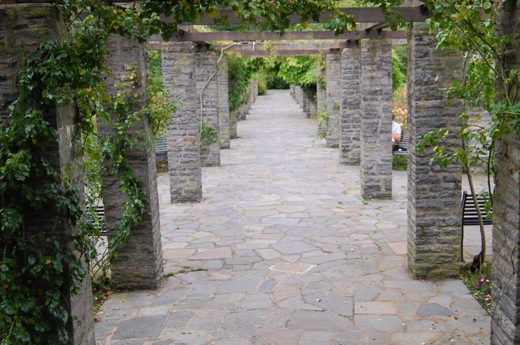 Brick pathway in Ireland