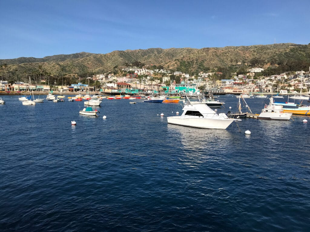 view of Catalina Island harbor