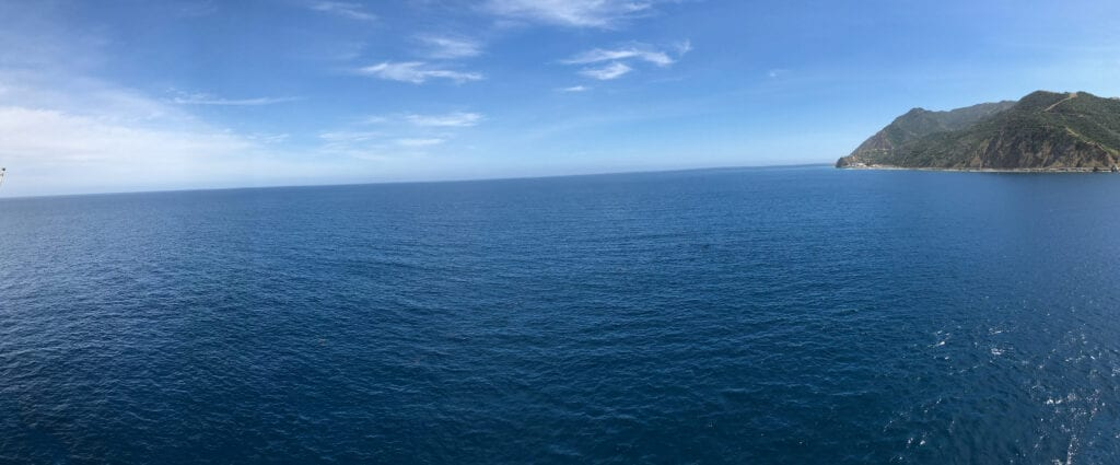 Ocean view from a cruise ship