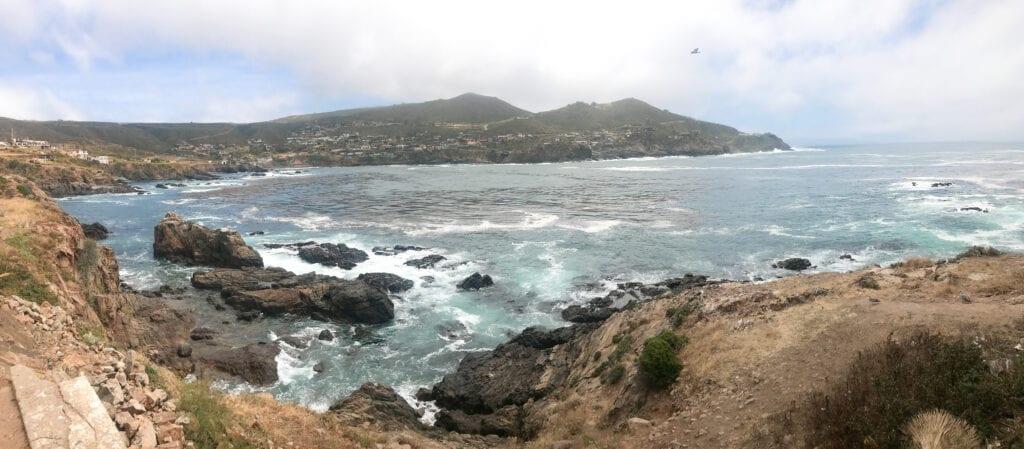 La Bufadora, Baja, Mexico view of the ocean with rocks