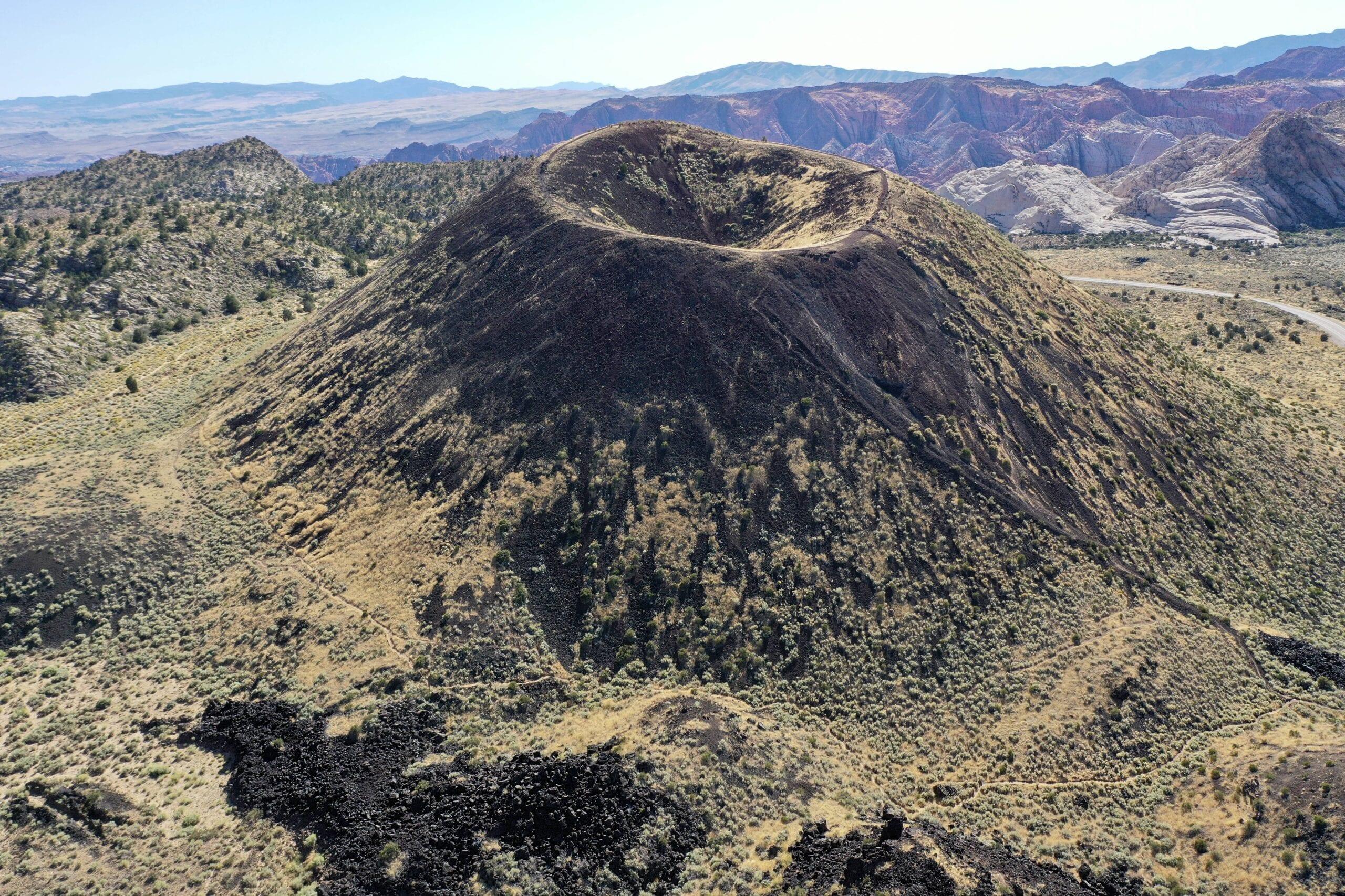 Cinder Cone Drone Shot Utah