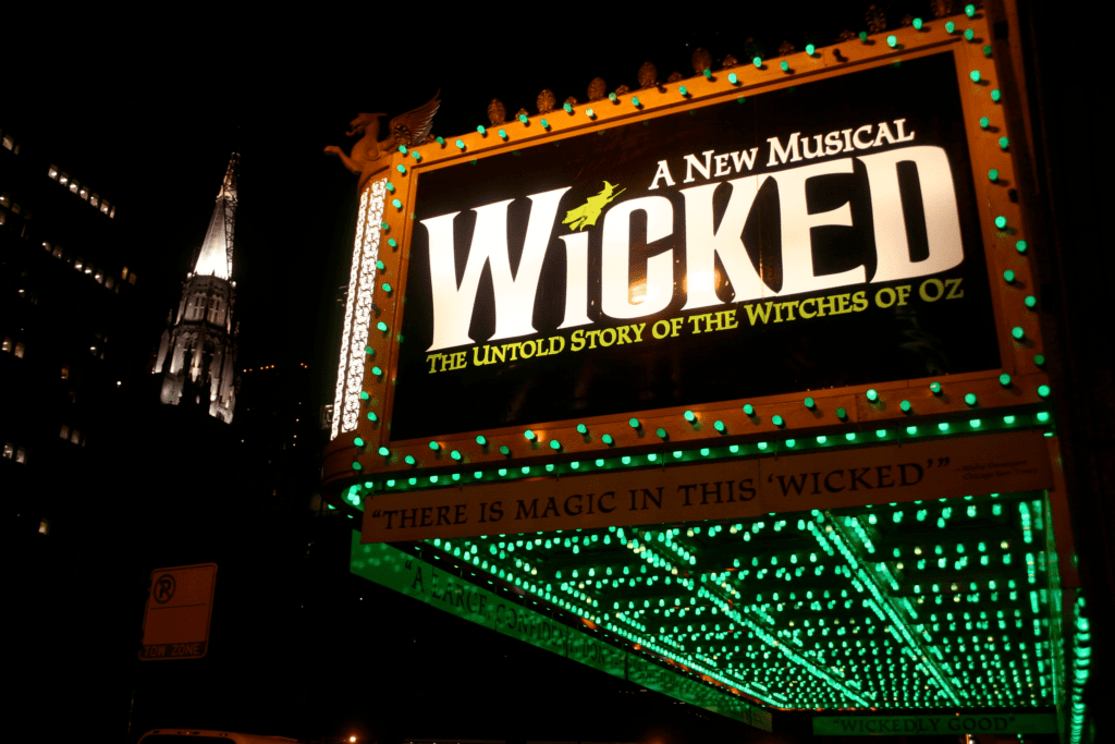 wicked broadway lit-up sign New York