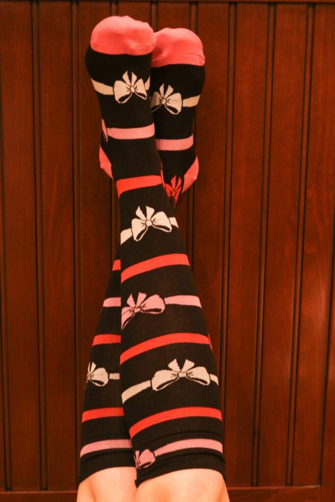 Bow Socks Christmas