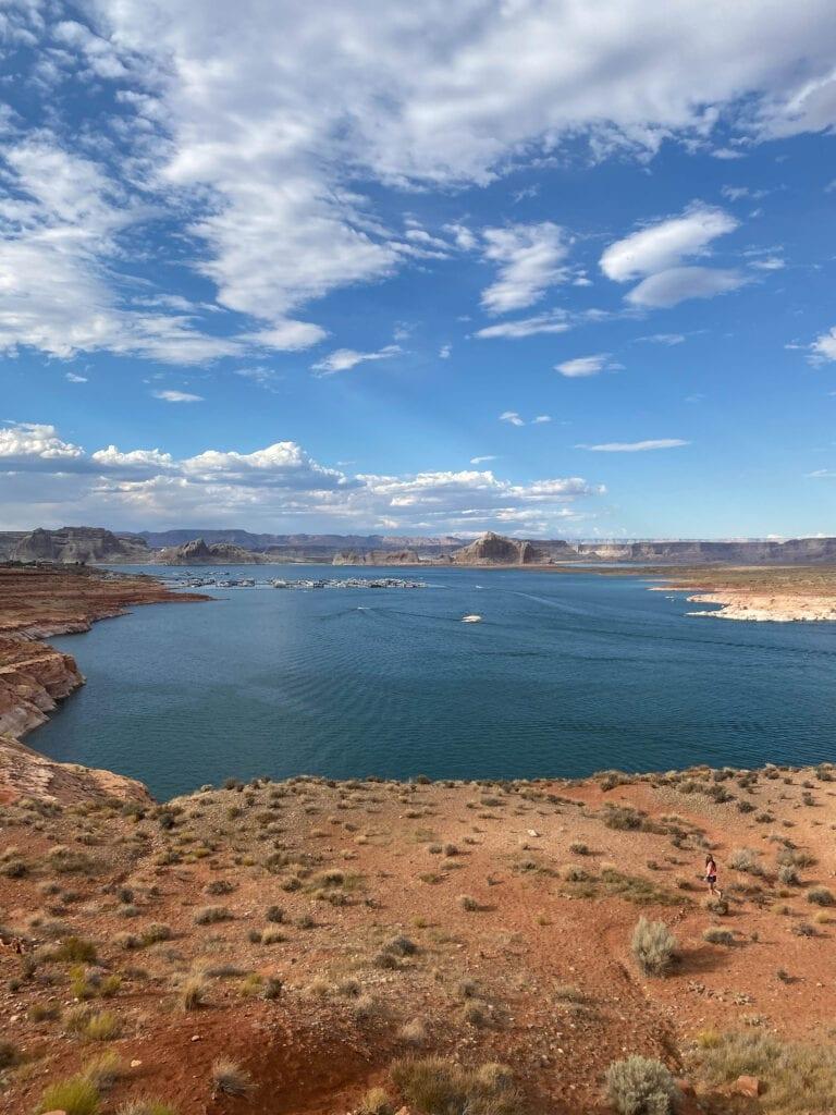 Girl at Wahweap Overlook Arizona Lake Powell