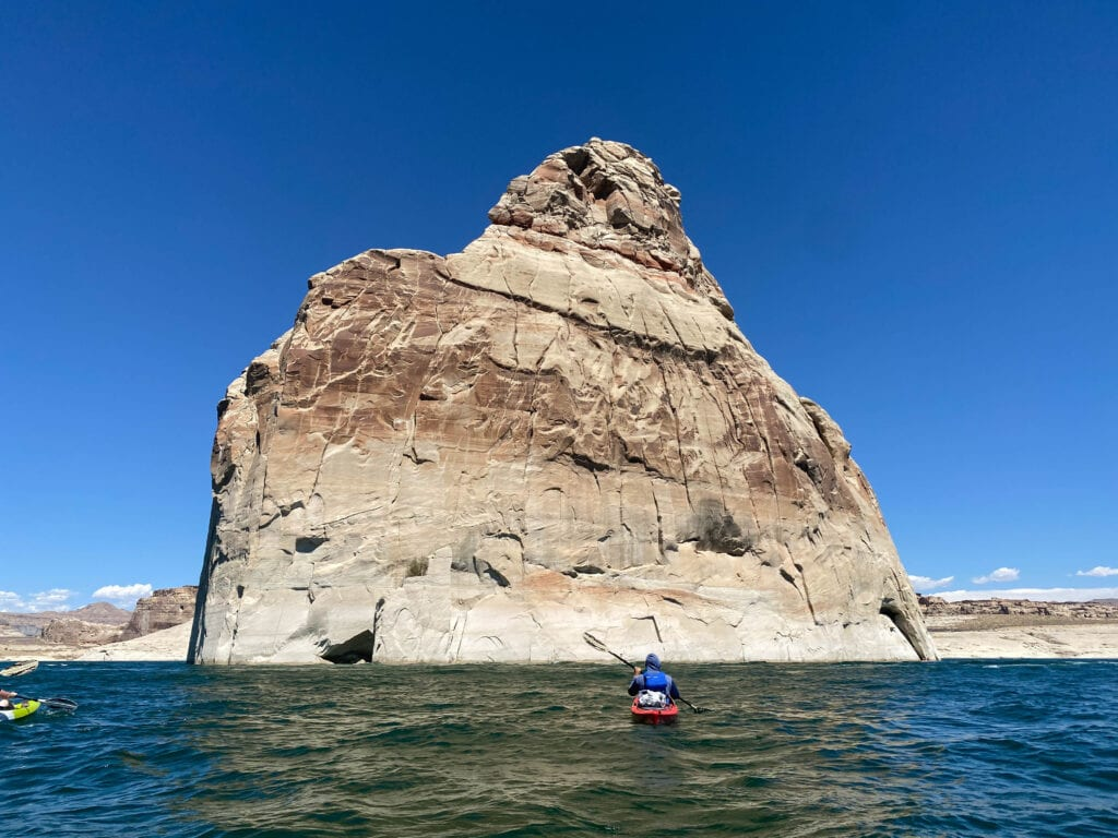Kayaking Lake Powell Lone Rock